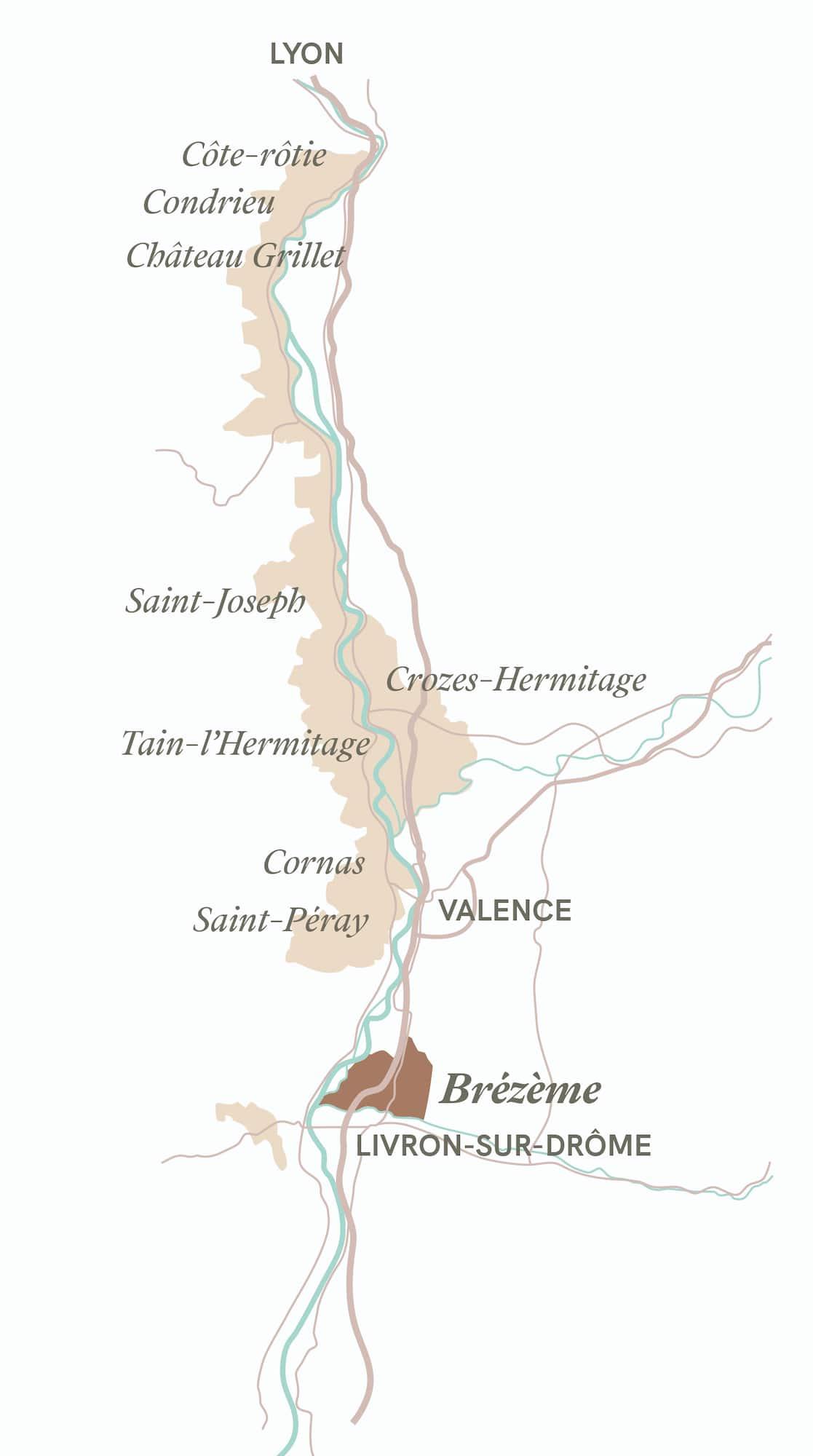 carte valle du rhone domaine lombard